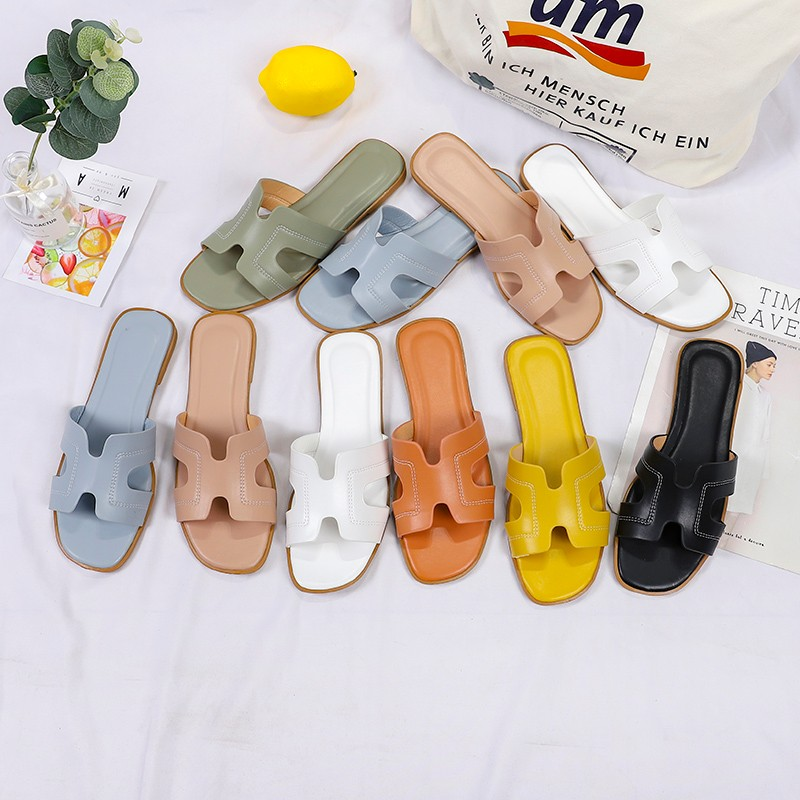 2020 New Women Summer Flat  Slippers Transparent Soft Jelly Shoes Female Flip Flops Sandals Outdoor Beach Ladies Slides