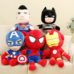 Мягкие игрушки «мстители» Disney, плюшевые герои из мультфильма «Капитан Америка», Железный Человек-паук, 27 см