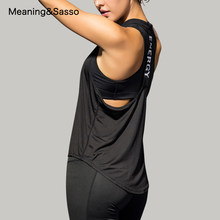 Yoga Shirts Lose Fit Sleeveless Sport Hemd für Frauen Fitness Yoga Crop Top Lauf Weste Weibliche Sportswear Quick-Dry yoga Weste(China)