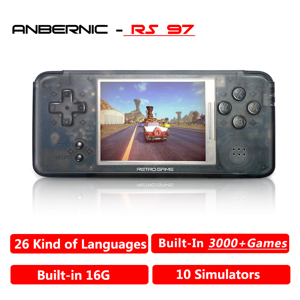 ANBERNIC RS97 Plus Original system Retro Game Console Emulators 64 bit 3.0 IPS Portable Handheld Game Player RS 97 game console