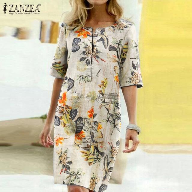 Women Vintage Floral Printed Dress