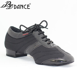 Men Standard Dance Shoes BDDANCE 328H Dancesport Shoe  Men Ballroom Dance Shoes Split Sole  Modern Shoes Stretch Spandex Patent