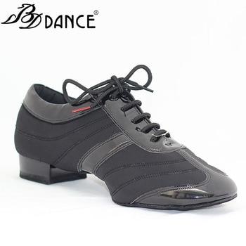 Men Standard Dance Shoes BDDANCE 328H Dancesport Shoe  Men Ballroom Dance Shoes Split Sole  Modern Shoes Stretch Spandex Patent