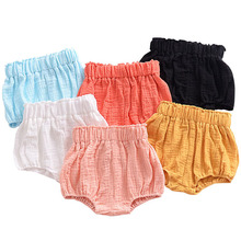baby bloomers cotton shorts for girls boys pp shorts children harem short 3 color cartoon bear print newborn clothes New 0-5Y Kawaii Newborn Baby Bloomers Shorts PP Pants Cotton Linen Triangle Solid Dot Striped Baby Girls Shorts Summer Trousers
