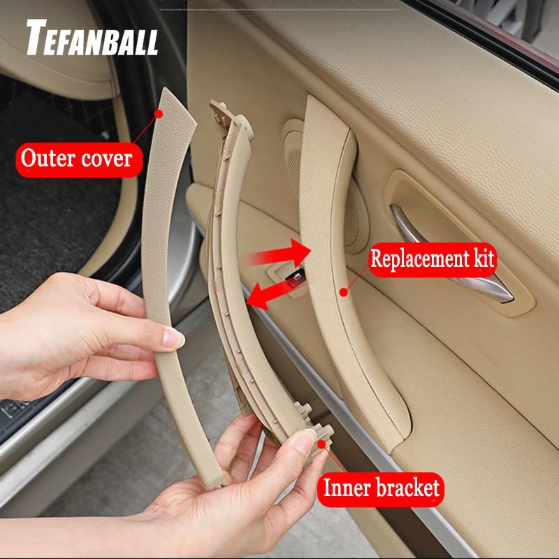For BMW E90 E91 3-Sedan 2004-2012 Car Door Handle Trim Cover Panel Replacement