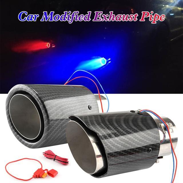 Universal Car Exhaust Muffler Tip Round Stainless Steel Pipe 1