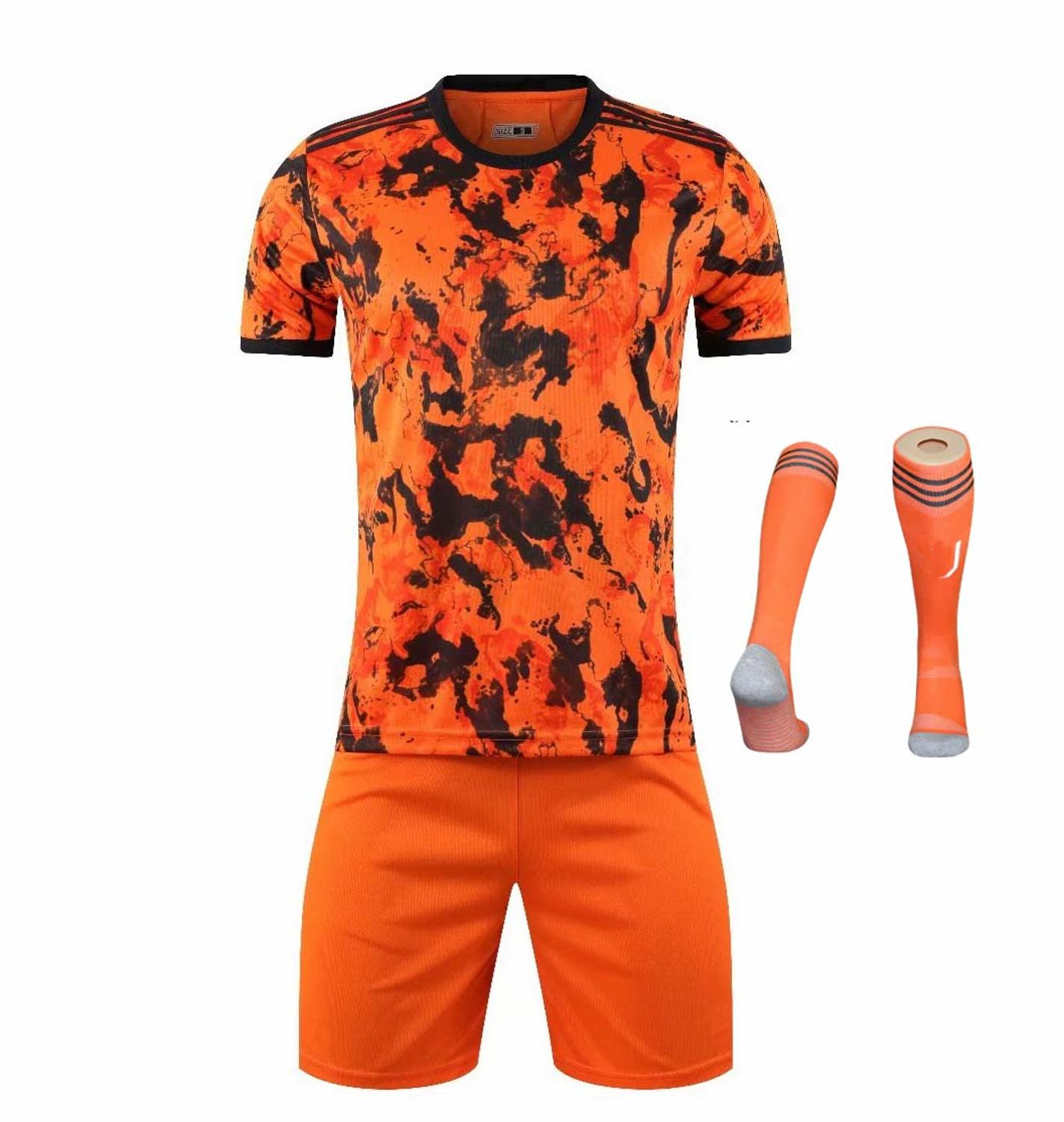 Children Sets football uniforms boys and girls sports kids youth training suits blank custom print soccer set with socks 34
