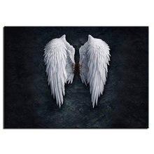 Домашний декор плакат ангельское перо настенное искусство холст