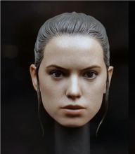 Mulher cabeça esculpir 1/6 daisy ridley rey cabeça modelo fêmea cabeça escultura f 12 12 doll figura de ação boneca