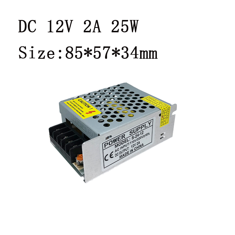 switching power supply S-25-12 12V 2A 25W lighting transformer Monitor LED lights transformer LED Driver AC to DC single output