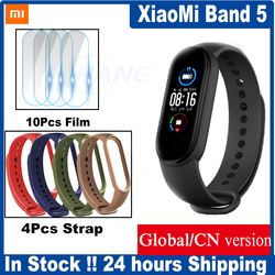 Xiaomi Mi Band 5 Smart Band 4 Color AMOLED Screen Miband 5 Smartband Fitness Traker Bluetooth Sport Waterproof Mi5 Band Global