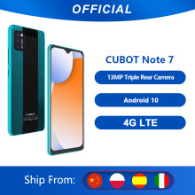 Cubot Note 7 Triple Camera13MP 4G LTE Layar 5.5 Inci 3100MAh Android 10 Dual SIM Card ponsel Face Unlock 2GB+16GB(China)