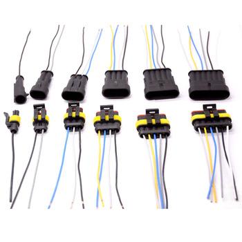 1 2 3 4 5 6 Way 1P 2P 3P 4P 5P 1 5 zestaw Auto złącze męskie i żeńskie wodoodporne wtyczka elektryczna z 14AWG złącze do wiązki kablowej tanie i dobre opinie VENSTPOW Kable Adaptery i gniazda
