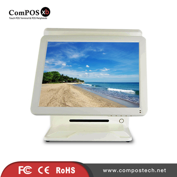 ComPOSxb cheap price pos machine 15 inch dual touch screen pos system for sale white