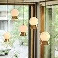 Современные светодиодные круглые стеклянные шаровые подвесные светильники, железные E14 подвесные лампы, подвесной светильник для гостиной...