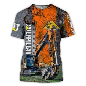 Tessffel Excavator Equipment Worker Machine Funny NewFashion Harajuku 3DPrint Unisex Summer T-shirts Short Sleeves Streetwear S3 2