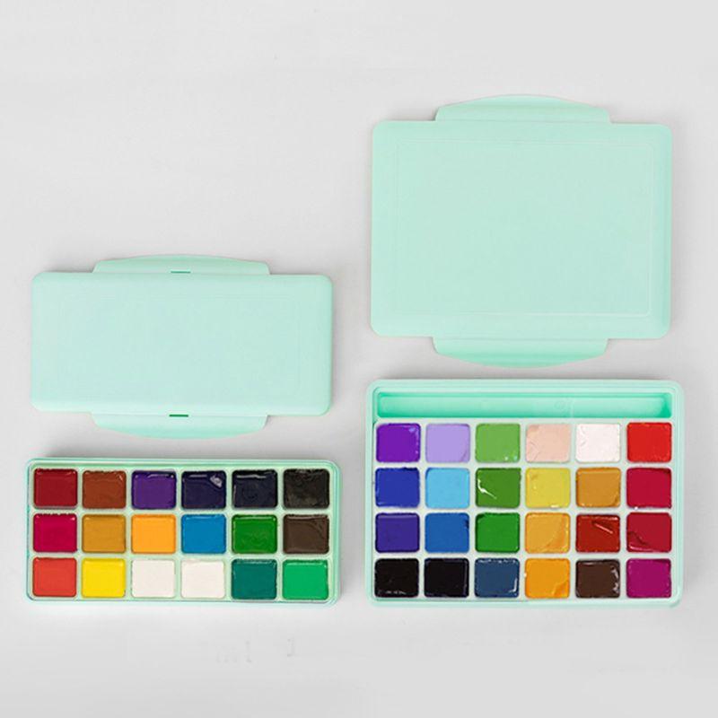 1 caja 18/24 colores Gouache pintura Set con paleta 30ml acuarela pintura para artistas estudiantes suministros no tóxico|Acuarelas|   - AliExpress