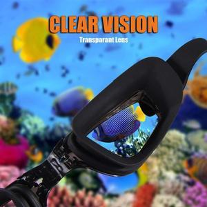 Image 2 - Профессиональные очки для плавания ming HD противотуманные 100% УФ Регулируемые очки с ремнем для плавания очки для взрослых водонепроницаемые очки по рецепту