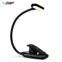DBF 9LED USB charge lampe de Table à clipser Flexible livre de lecture lumineux lumières Portable Kitap Ebook lampe de bureau pour ordinateur Portable Kindle