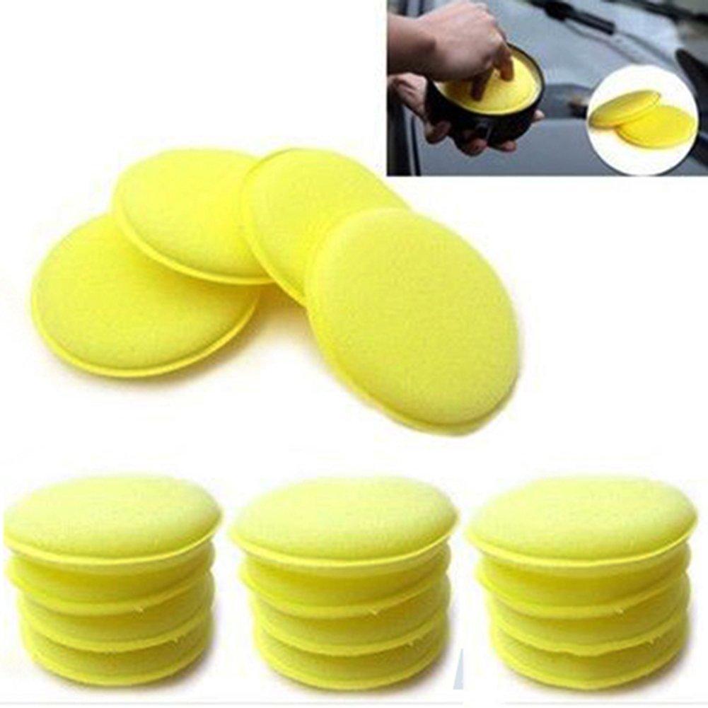 12 Uds. Almohadillas aplicadoras de espuma de cera y pulido de cera para coches limpios en Stock