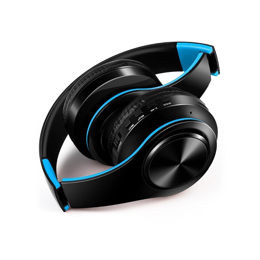 Bluetooth Headphones Ear Stereo Wireless Soft Leather Earmuffs Built In Mic Evolutecq