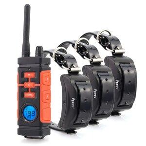 Image 1 - Ipets 616 mais novo 800 m recarregável e à prova drechargeable água vibração elétrica colar de choque para 3 cães