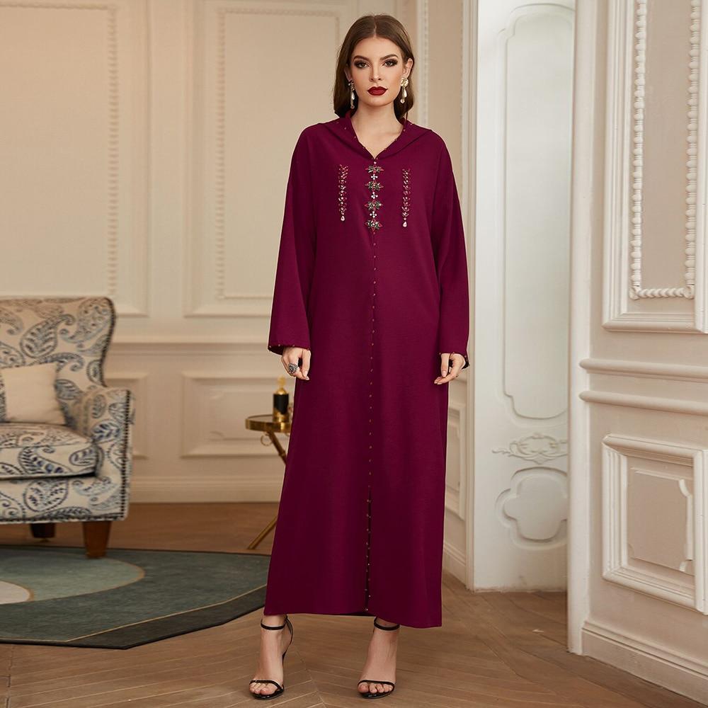 Abaya Дубай, Турция арабское мусульманское хиджаб платье кафтан ислам одежда макси платья для женщин марокканские платья длинное женское пла...