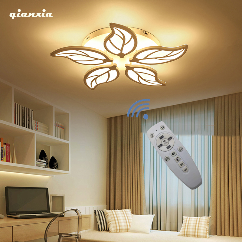Modern LED Chandelier Bedroom Dining Room Lamp White Acrylic  Ceiling Chandelier Lighting Free Shipping