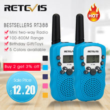 Retevis RT388 Walkie Talkie Kids Walkie-Talkies 2 Stuks Mini Twee-Weg Radio Station Pmr Kinderen Gift/familie Gebruik/Camping 100-800M(China)