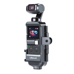 Image 2 - Ulanzi OP 7 Vlog Case Housing for DJI Osmo Pocket Extend Mount Adapter with 1/4 Screw Cold Shoe for Microphone LED Light