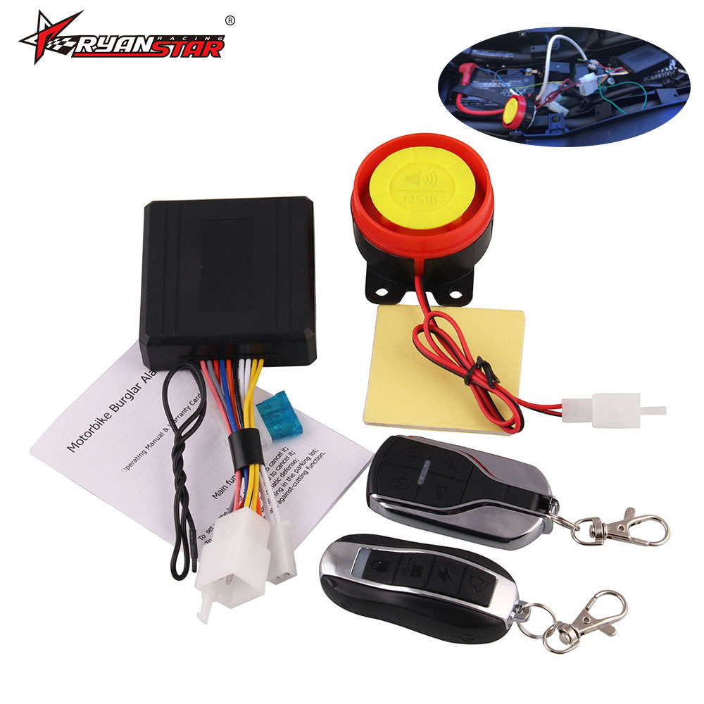 Cross Border Hot Sales Motorcycle Anti-theft Alarm Universal Accessories Remote Control Engine Button Start Unidirectional Anti-