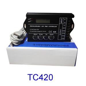 Image 5 - 무료 배송 프로그래밍 가능한 시간 프로그래밍 가능 RGB LED 컨트롤러 DC12V/24V 5 채널 총 출력 20A 공통 양극 TC420/TC421