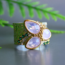 Nice Teadrop Pink Zirconia Ring Silver plate Copper Jewellery Hyperbole Index Finger Rings Female Latest Jewelry
