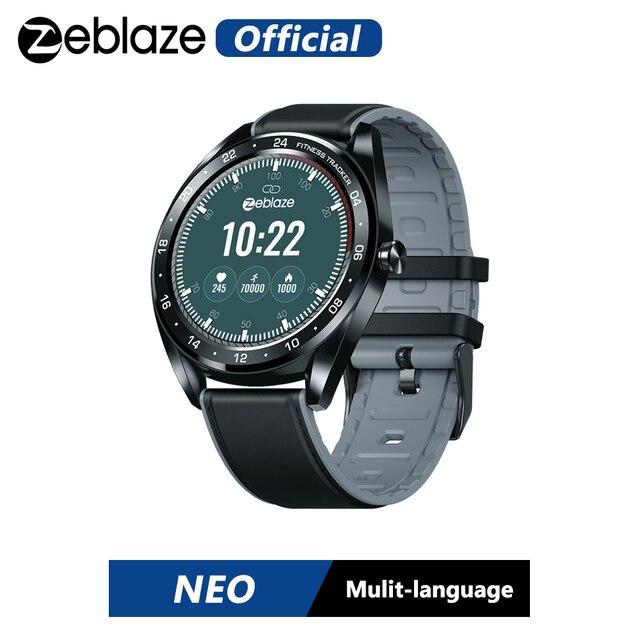 HOT Zeblaze NEO Touch Display Smart Watch frequenza cardiaca pressione sanguigna braccialetto intelligente salute femminile conto alla rovescia chiamata rifiuto orologio