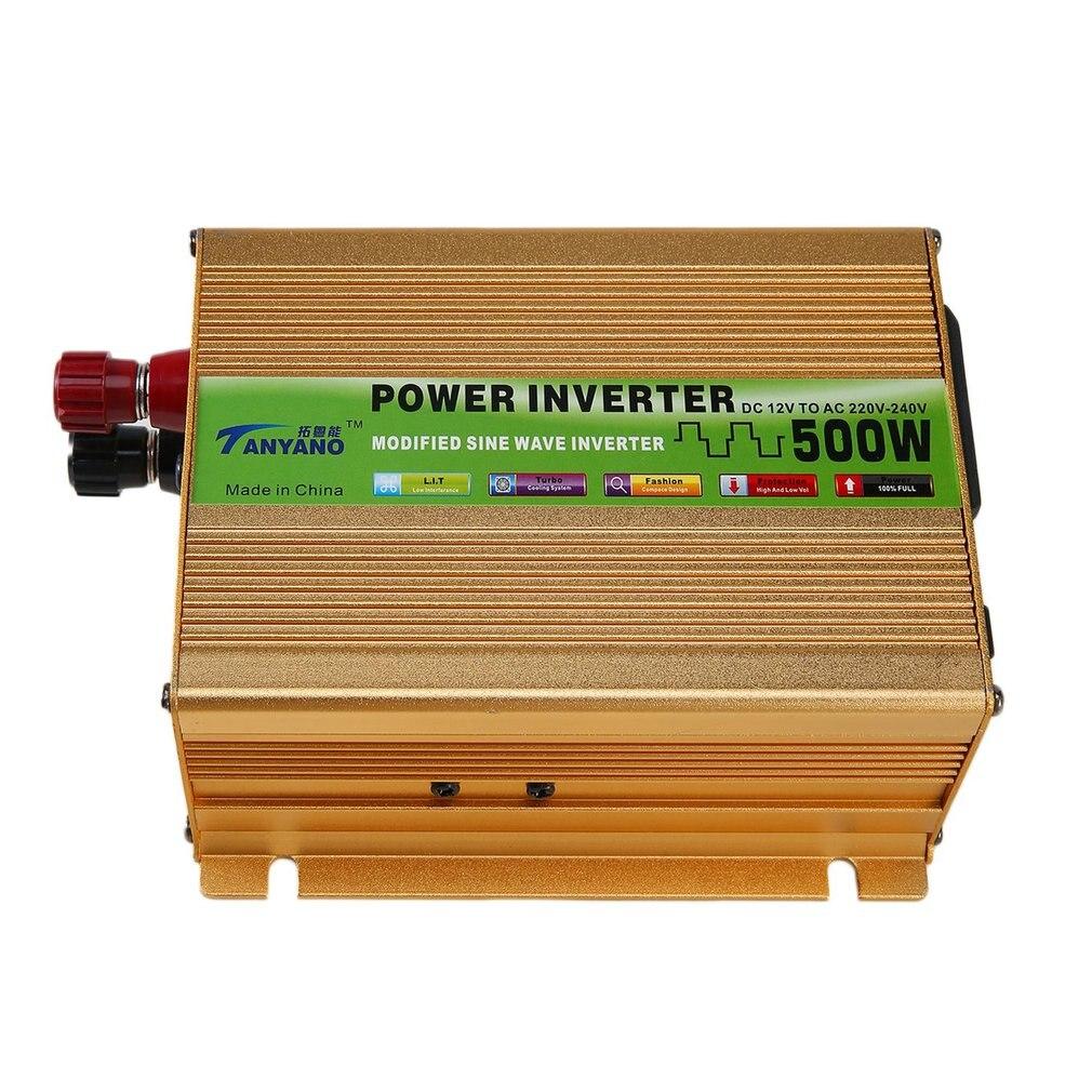Car Power Inverter Sine Wave Power Inverter DC 12V to AC 220V USB Adapter Portable Voltage Transformer Car Charger