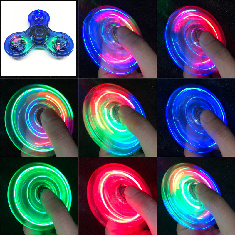 Relief-Toys Spinners Led-Light Kinetic-Gyroscope Hand-Top Edc Stress Glow-In-Dark Luminous img2