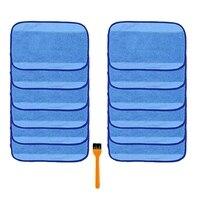 12Pcs Mikrofaser Nass Wischen Reinigung Pad Tuch für Irobot Braava 380 380T 321 320 Mint 5200C 5200 4200 4205 und eine Freie Reinigung-in Mopp aus Heim und Garten bei