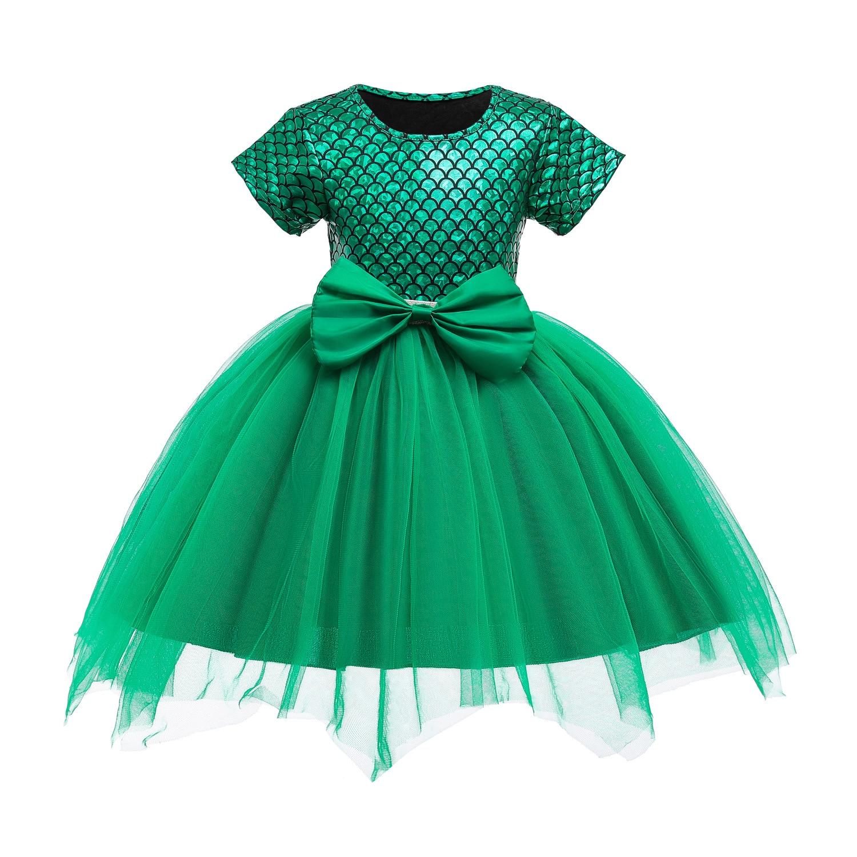 The Little Girls Dress Mermaid Tail Princess Ariel Fancy Costume Summer Cosplay