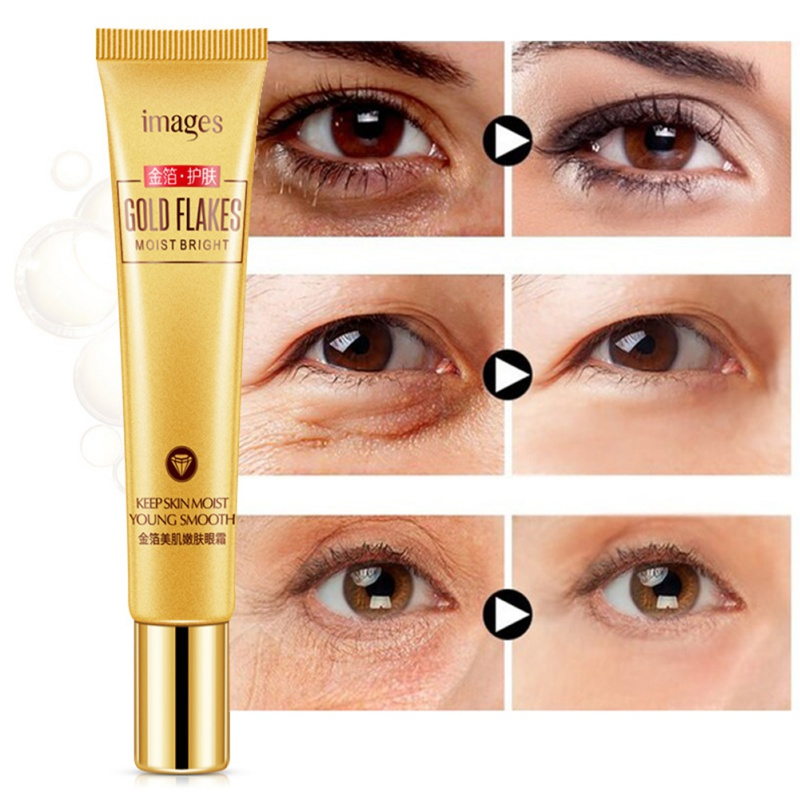 Gold Foil Eye Cream Eliminate Eye Bags Eye Edema Eyes Ojeras Anti-Aging Eye Firming Cream*s