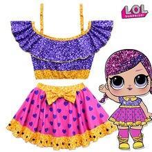 Оригинальный сюрприз ЛОЛ куклы Сплит купальник Лоис девушка косплей костюм купальники ремни одно плечо подарки для девочек