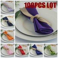 Nice Looking 100pcs Linen Napkin Polyester Tablecloth Napkins For Wedding Event Banquet Decoration