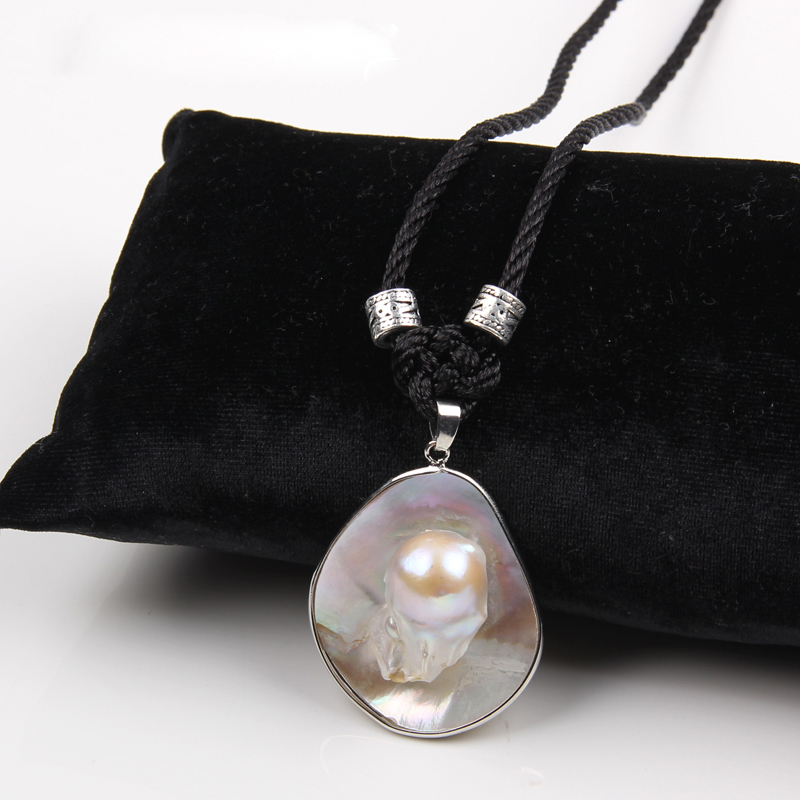 Charm Women Shell Design Freashwater Pearl Pendant Long Necklace Lucky Knot Exquisite Simple Sweater Decoration Jewelry Gifts(China)
