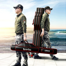 2/3 Layer Oxford Fishing Bag Fishing Rod Carrier Fishing Pole Tools Waterproof Fishing Tackle Storage Case Holder Organizer X45A