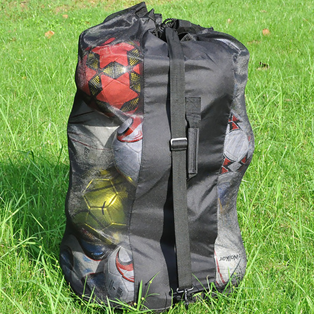 Outdoor Soccer Football Carrying Sack Extra Large Ball Shoulder Bag Waterproof Basketball Storage Bag Net Sports Mesh Drawstring