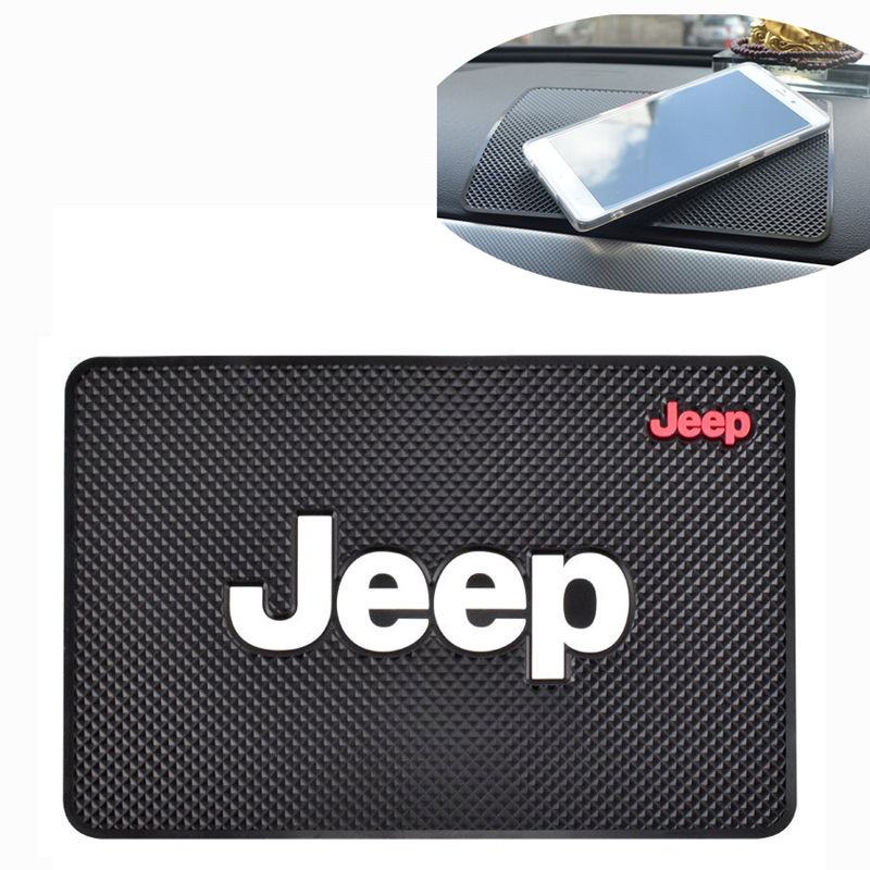 Non Slip Mat For Jeep Wrangler Grand Cherokee Commander Renegade Liberty Compass Patriot Jk Tj Jl Anti-slip Pad Car Accessories