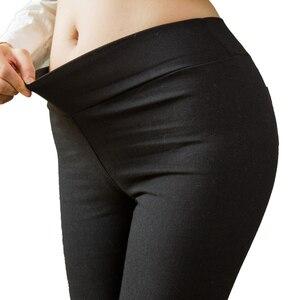 Image 5 - Calças lápis femininas de algodão, plus size, bolsos, slim, denim, skinny, 2019