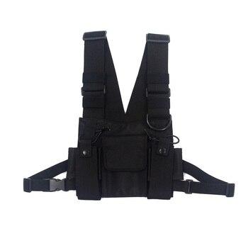 Men Tactical Shoulder Bags Chest Rig Bag Hip Hop Streetwear Men Functional Waist Packs Adjustable Pockets Waistcoat Kanye West