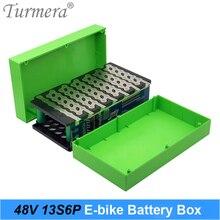 Turmera 13S6P 48V Elektrische Fiets Lithium Batterij Case Met 20A Balans Bms Inclusief Houder Nikkel Voor E Soccter batterij 48V Gebruik