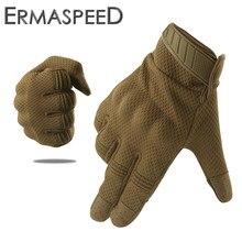 Transpirable de dedo completo para pantalla táctil de la motocicleta guantes invierno verano táctica militar de equitación Motocross Enduro de ATV