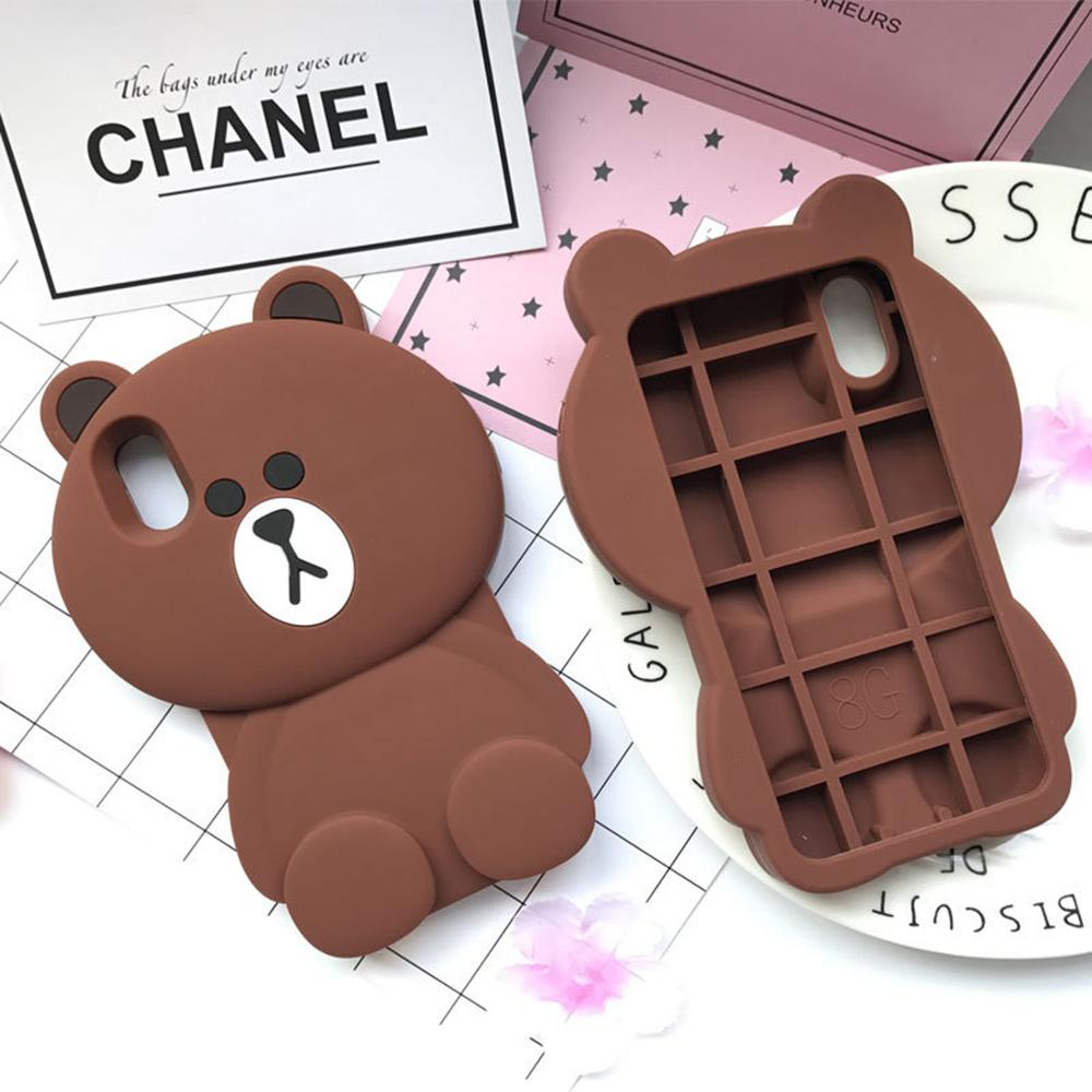 For <font><b>iPhone</b></font> 11 Pro Max <font><b>Silicon</b></font> <font><b>Case</b></font> Capa <font><b>3D</b></font> Brown Teddy Bear Coque Soft Rubber Cover For <font><b>iPhone</b></font> 6 7 8 Plus XR <font><b>XS</b></font> Max Fundas <font><b>Case</b></font> image